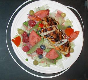 Blackened Chicken and Berry Salad
